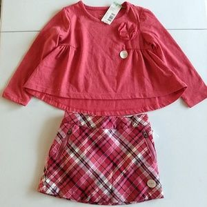 Matching tee & skirt  outfit